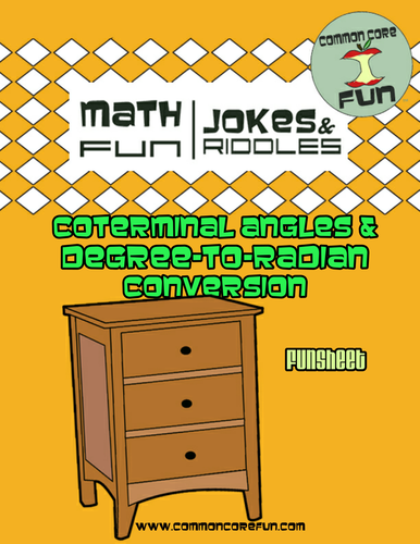 Coterminal Angles and Degrees to Radians by CommonCoreFun