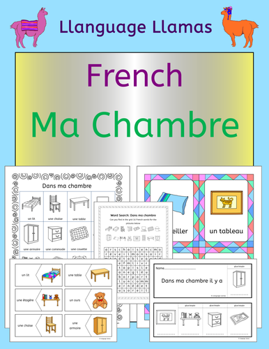 French Bedroom Vocabulary Ma Chambre By Llanguagellamas Teaching