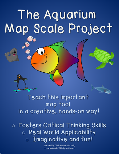 The Aquarium Map Scale Project: Geography: Map Skills: Substitute Lesson