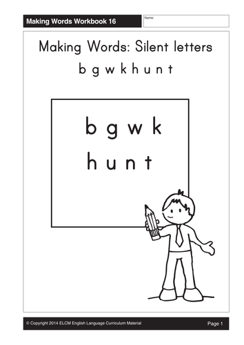 silent letters k h u n t 20 pages by gmmd uk teaching resources tes. Black Bedroom Furniture Sets. Home Design Ideas