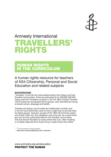 Lesson plans: Travellers' Rights