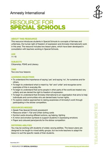Special Schools resource