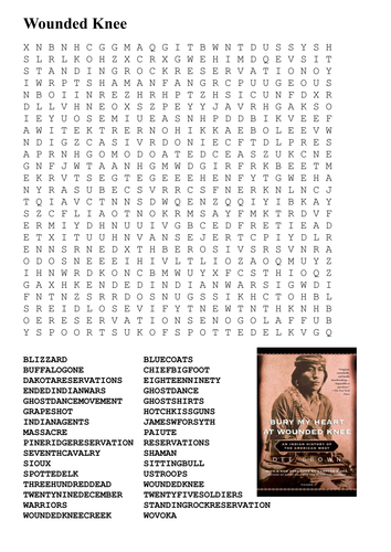 Printable Native American Word Search | Native American ...