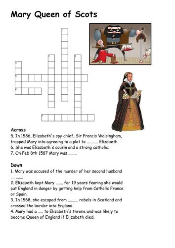 Mary Queen of Scots Crossword