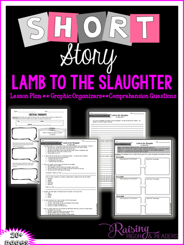 "Short Story Lesson Plan - ""Lamb to the Slaughter"""