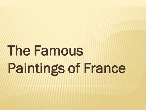 Famous French Paintings
