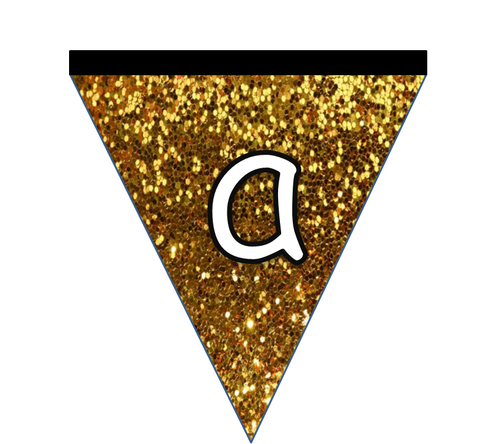 Glittery Egyptian Bunting for Display