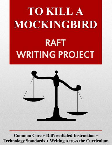 To Kill a Mockingbird RAFT Writing Project + Rubric