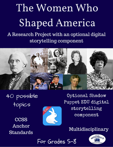 The Women Who Shaped America Research Project + Digital Storytelling