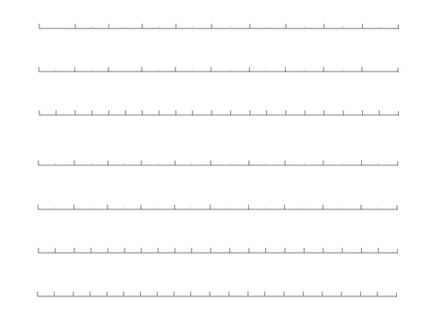 Blank Numberlines