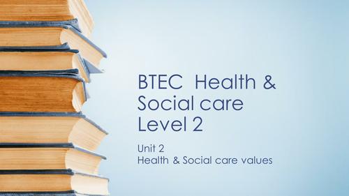 BTEC HSC level 2 unit 2 whole unit in ppt