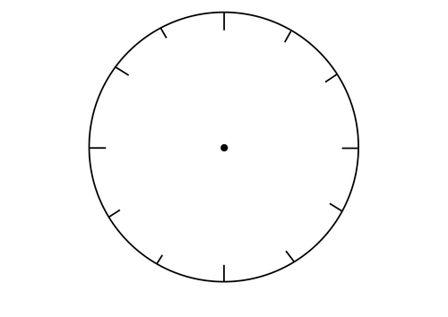Blank Clock Faces By Resourcecentre Teaching Resources