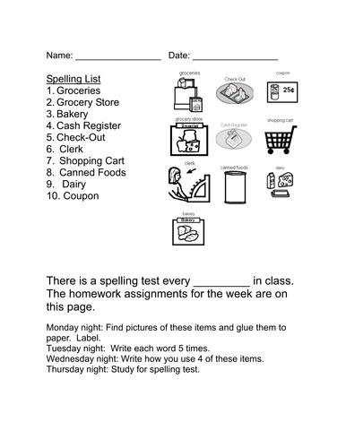 Life Skills Vocabulary: At the Grocery Store (Grocery Words)