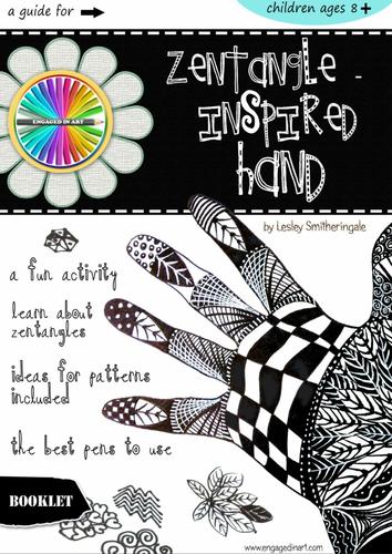 Zentangle-Inspired Hand Art Lesson