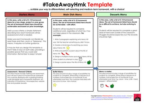 Takeaway homework template by teachertoolkit by rmcgill teaching takeaway homework template by teachertoolkit by rmcgill teaching resources tes maxwellsz
