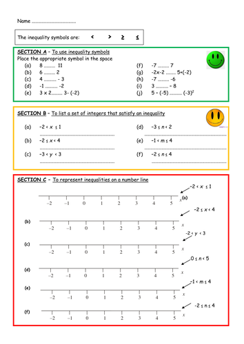 GCSE Higher: Inequalities Unit - 6 Lessons. by finbutler999 ...