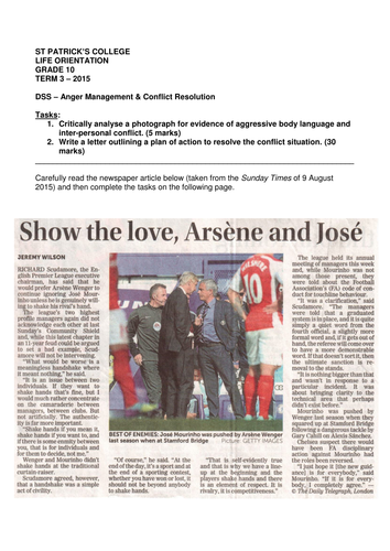 Conflict Resolution: Wenger vs Mourinho