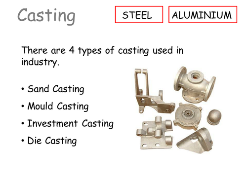Casting in Metals by gemmataylor82 | Teaching Resources