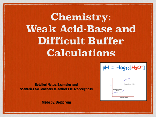 Chemistry: weak acid-base and difficult buffer calculations-1
