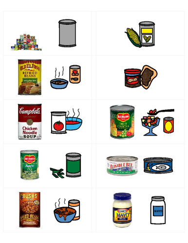 Life Skills Vocabulary: At the Grocery Store-Condiments