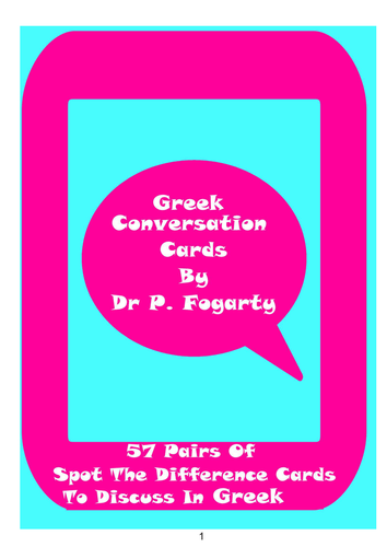 57 Greek Setting Cards For Conversation Practice