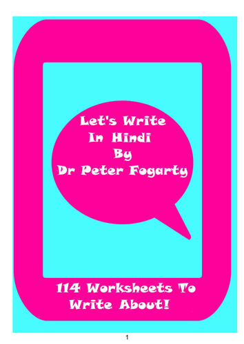 114 Hindi Writing Worksheets For Writing Practice. by peterfogarty ...