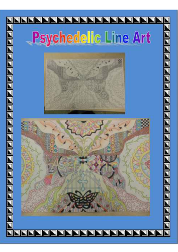 Psychedelic Line Art