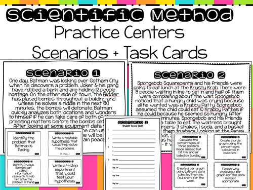 Scientific Method Practice Centers 5 Scenarios 20 Task Cards by – Scientific Method Scenarios Worksheet