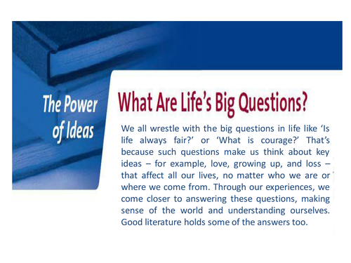 Introduction to literature - The Power of Ideas