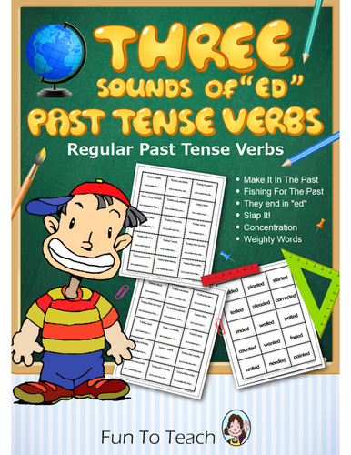 """Three Sounds of """"ed"""" Past Tense Verbs - Grammar Games and Lesson Plans"""
