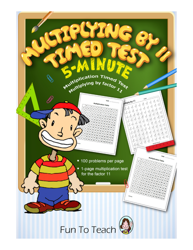 Multiplication Timed Test - Multiplying by 11