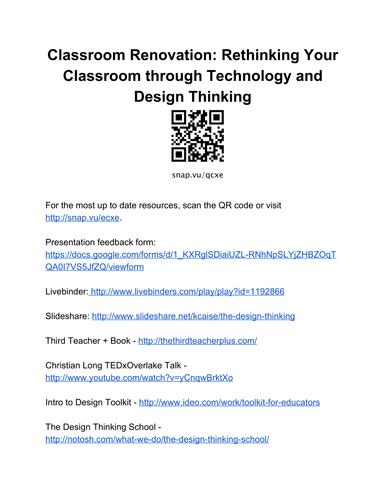 Design Thinking Resource Sheet