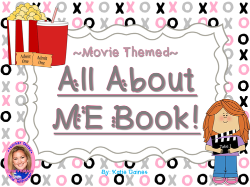 All About Me Book- MOVIE themed!