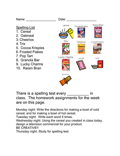 Life Skills Vocabulary: At the Grocery Store (Cereals)