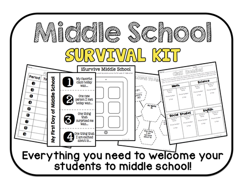 Middle School Survival Kit- Everything you need to welcome