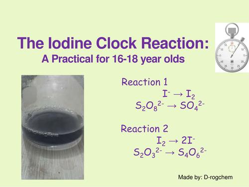 Chemistry: practical - rates of reaction - iodine clock