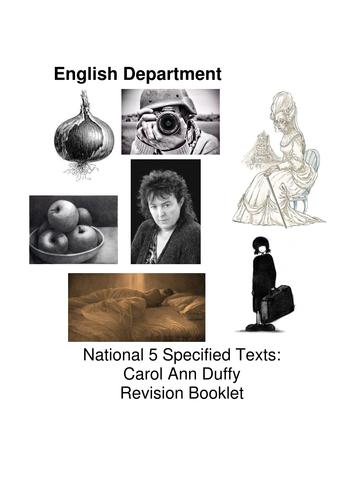 Carol Ann Duffy National 5 Revision Book
