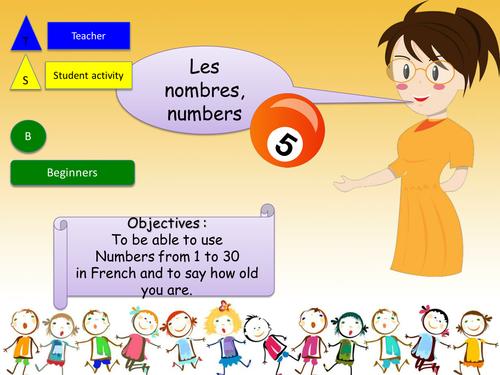 Numbers 1 to 30 in french / Les nombres 1 à 30 en français