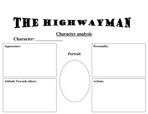The Highwayman - Teaching Resources - Y4-6