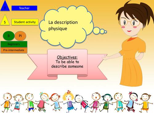 French physical description / La description physique en français