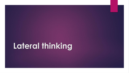 lateral thinking question ppt