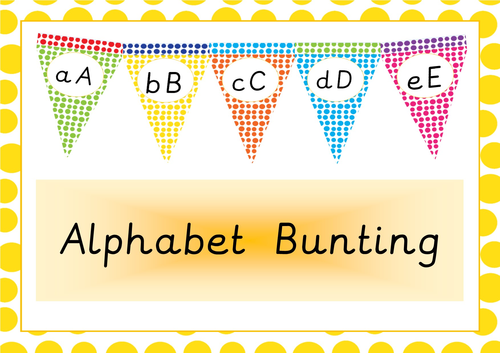 Classroom Display Decoration Alphabet Bunting