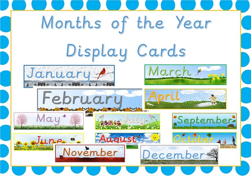 Classroom Display Months of the Year