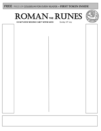 Roman newspaper template