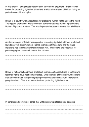 Rights and Responsibilities - Citizenship BUNDLE