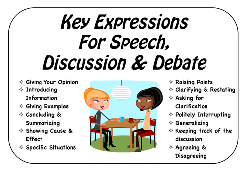 Key Expressions for Speech, Discussion & Debate