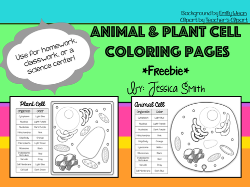 Animal Plant Cell Coloring Pages
