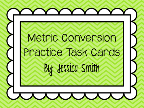 Metric Conversions Practice Task Cards Record Sheet By
