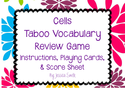 Cells Taboo Vocabulary Review Game By Smithscienceandlit