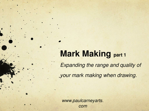 Mark Making in drawing